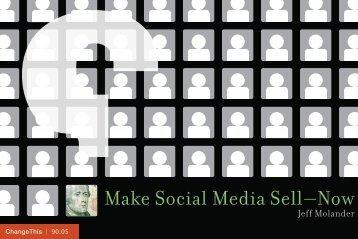 Make Social Media Sell—Now - Social Commerce Today