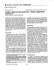 Complex Regional Pain Syndrome I (Reflex Sympathetic Dystrophy
