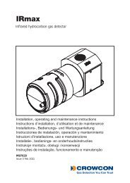 Installation, operating and maintenance instructions Instructions d ...