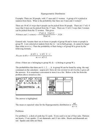 types of discrete probability distribution pdf