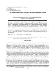 An Extended Gamma Function Involving a Generalized ...