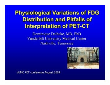Physiological Variations of FDG Distribution and Pitfalls of ...