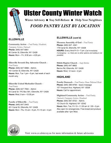 List of food pantries located in Manhattan Bronx Staten Island