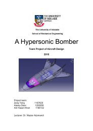 A Hypersonic Bomber - School of Mechanical Engineering ...
