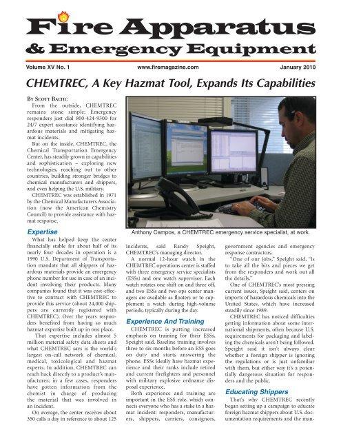 CHEMTREC, A Key Hazmat Tool, Expands Its Capabilities
