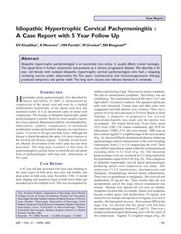 Idiopathic Hypertrophic Cervical Pachymeningitis : A Case Report ...