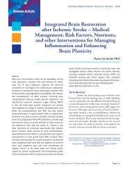 Integrated Brain Restoration after Ischemic Stroke - Alternative ...