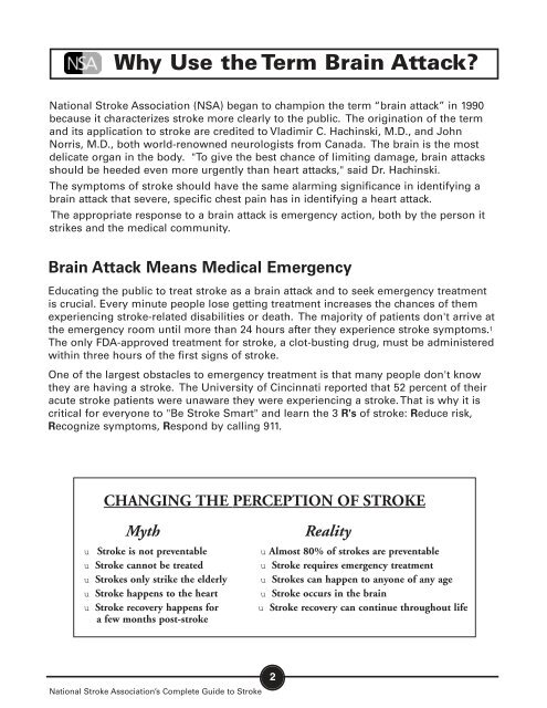 What is a Stroke/Brain Attack? - National Stroke Association
