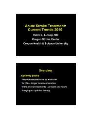 Acute Stroke Treatment Current Trends 2010: Dr. Helmi