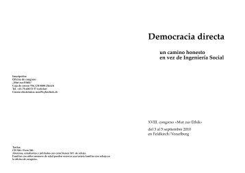 Democracia directa un camino honesto en vez de Ingeniería Social