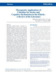 Therapeutic Applications of Citicoline for Stroke and Cognitive ...