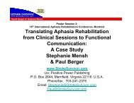 Translating Aphasia Rehabilitation from Clinical ... - Stroke Survivor