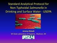 Jeremy Olstadt, Wisconsin State Laboratory of Hygiene