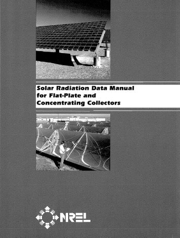 Solar Radiation Data Manual for Flat-Plate and ... - NREL