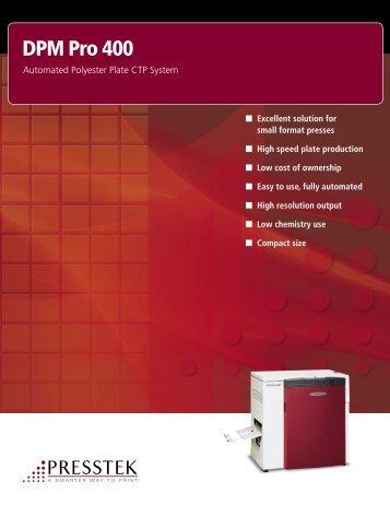 DPM Pro 400 Brochure - Presstek, Inc.