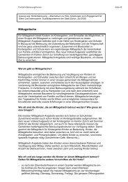 Handbuch Alternativen zur Kita -  Kapitel Mittagstische - Stadt Zürich