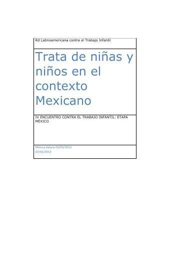 Trata de niñas y niños en el contexto Mexicano