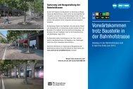 Infoflyer der VBZ zur Gleisbaustelle (PDF, 1 MB - Stadt Zürich
