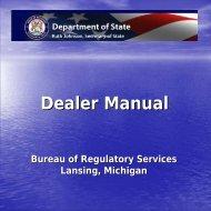 Dealer Manual - State of Michigan