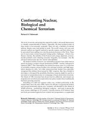 Confronting Nuclear, Biological and Chemical Terrorism
