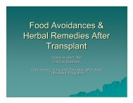 Food Avoidances & Herbal Remedies After Transplant - ITNS Alberta