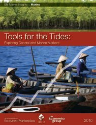 Tools for the Tides: Exploring Coastal and Marine - Forest Trends