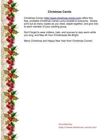 image regarding Christmas Carol Lyrics Free Printable named Xmas Printable Audio - Xmas Decorations Plans