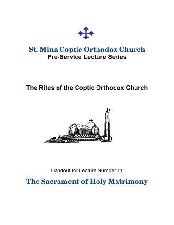 Sacrament - Holy Matrimony - Saint Mina Coptic Orthodox Church