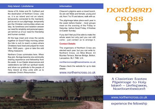 Northern Cross Christian Easter Walking Pilgrimage to Holy
