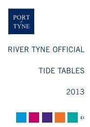 Tide Tables 2013 - Port of Tyne