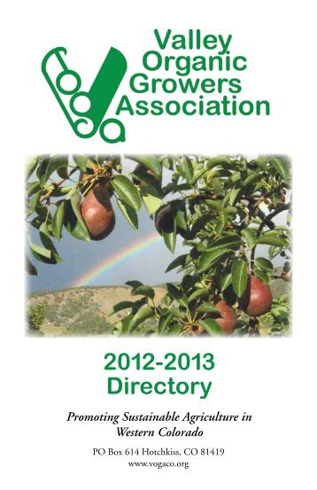 2012-13 Directory - Valley Organic Growers Association