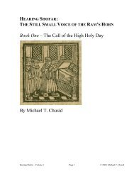 Book One – The Call of the High Holy Day By ... - What is Shofar?