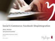Social E-Commerce: Facebook Shopintegration - MySign AG