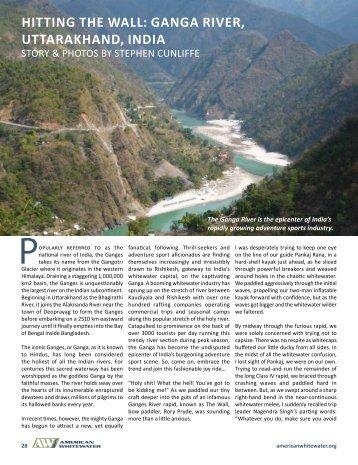 hITTING ThE WALL: GANGA RIVER, UTTARAKhAND ... - Aquaterra