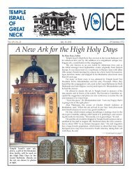A New Ark for the High Holy Days - Temple Israel of Great Neck
