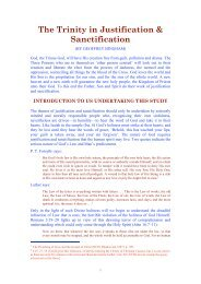The Trinity in - New Creation Teaching Ministry