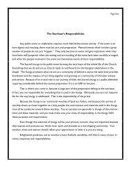 The Sacristan's Responsibilities Any public event ... - Morrissey Manor