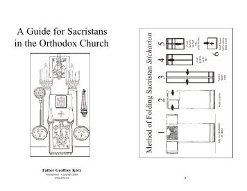A Guide for Sacristans in the Orthodox Church - Saints of North ...