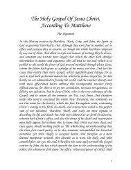 The Holy Gospel Of Jesus Christ, According To Matthew