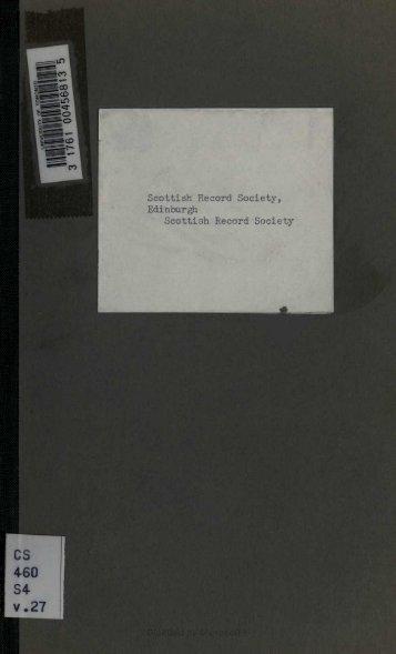 Scottish Record Society, Edinburgh Scottish ... - Electric Scotland