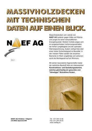 Massivholzdecken und -wände von NAEF AG isolieren gegen Kälte ...