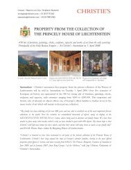 PROPERTY FROM THE COLLECTION OF THE ... - Christie's