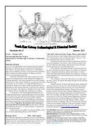 Newsletter No 10 Summer 2012 - Clonfert Research Project