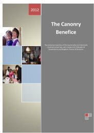 The Canonry Benefice - Diocese of Canterbury