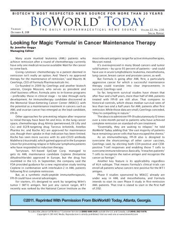 download pdf - Formula Pharmaceuticals