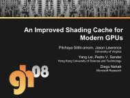 An Improved Shading Cache for Modern GPUs