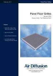 CDA Floor Grille - Air Diffusion