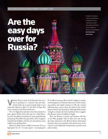 Are the easy days over for Russia? - Thomson Reuters