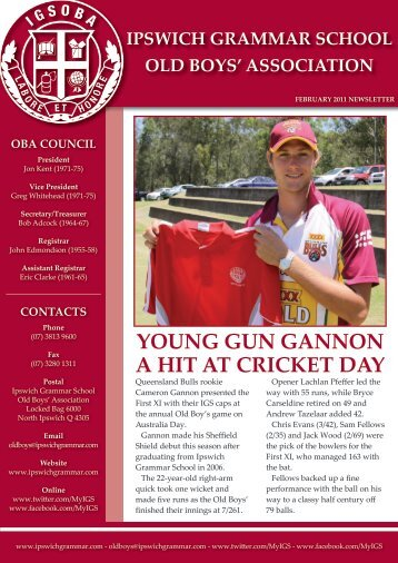 young gun gannon a hit at cricket day - Ipswich Grammar School
