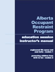 AORP Instructor's Manual - Alberta Occupant Restraint Program
